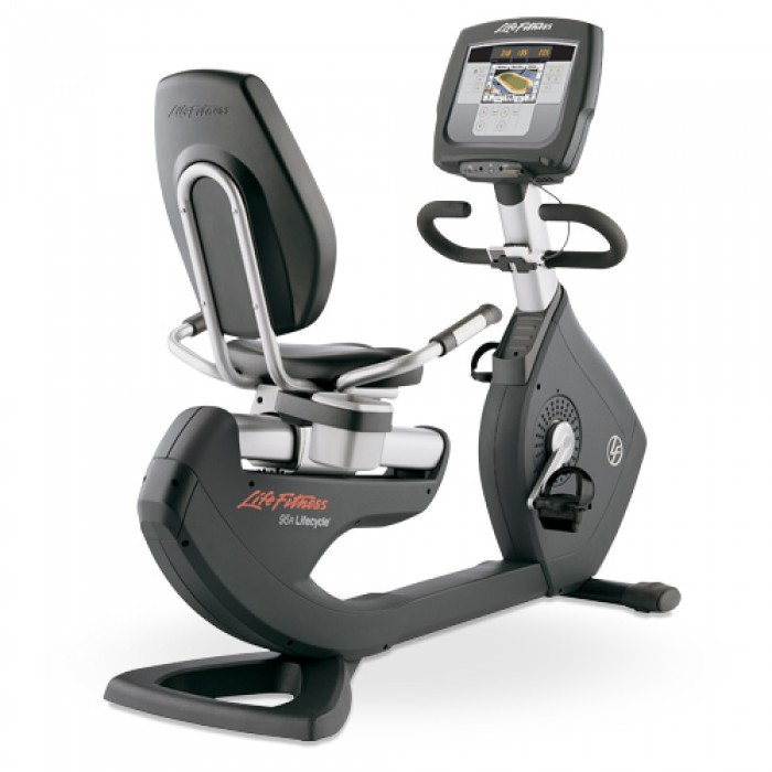 "Life Fitness 95R Recline Bike | Elevation Series | Inspire 7"" LCD"