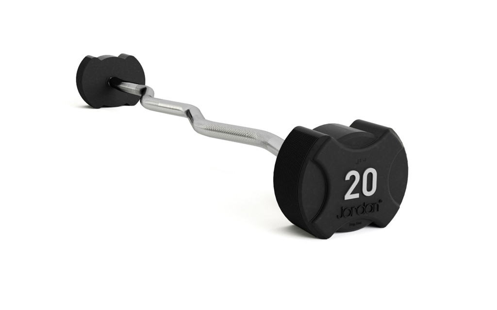 Jordan Ignite Premium Rubber Barbells - Curl Bars 10 - 60kg (see options)
