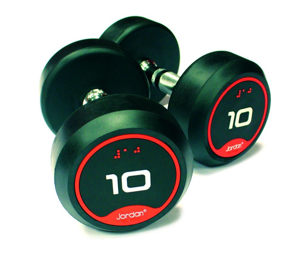 Jordan Classic Rubber Dumbbells with Solid Ends 1kg - 20kg Pairs