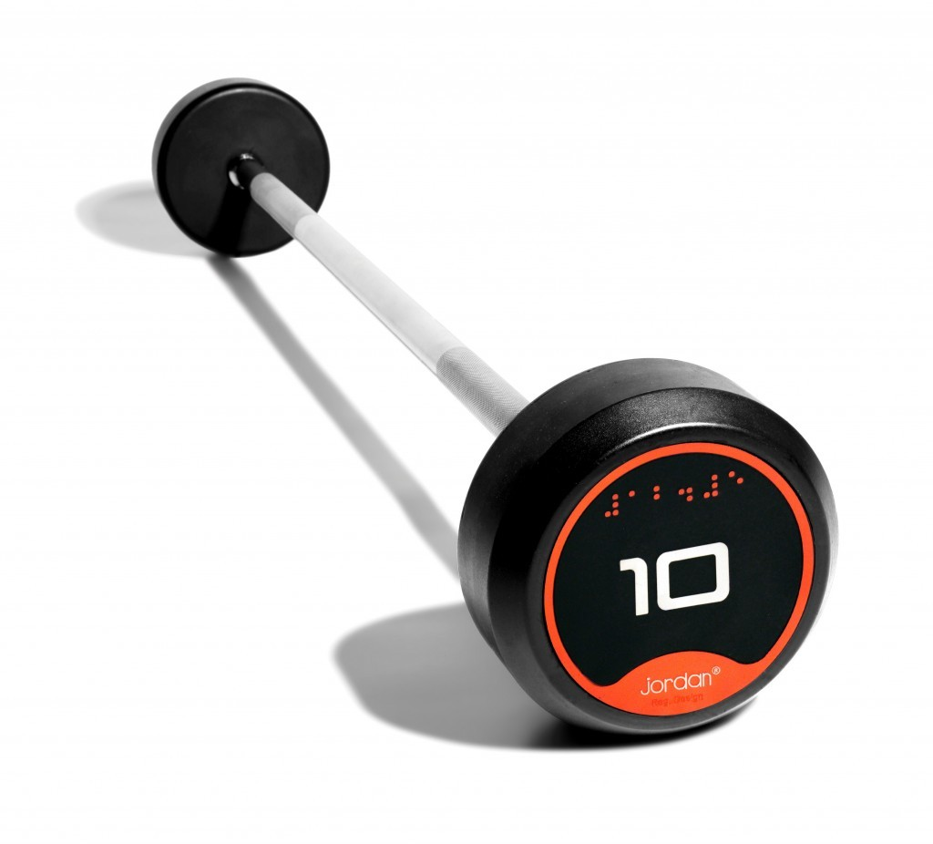 Jordan Classic Rubber Barbells - Straight Bars (Solid Ends) - 10 - 45kg (see options)