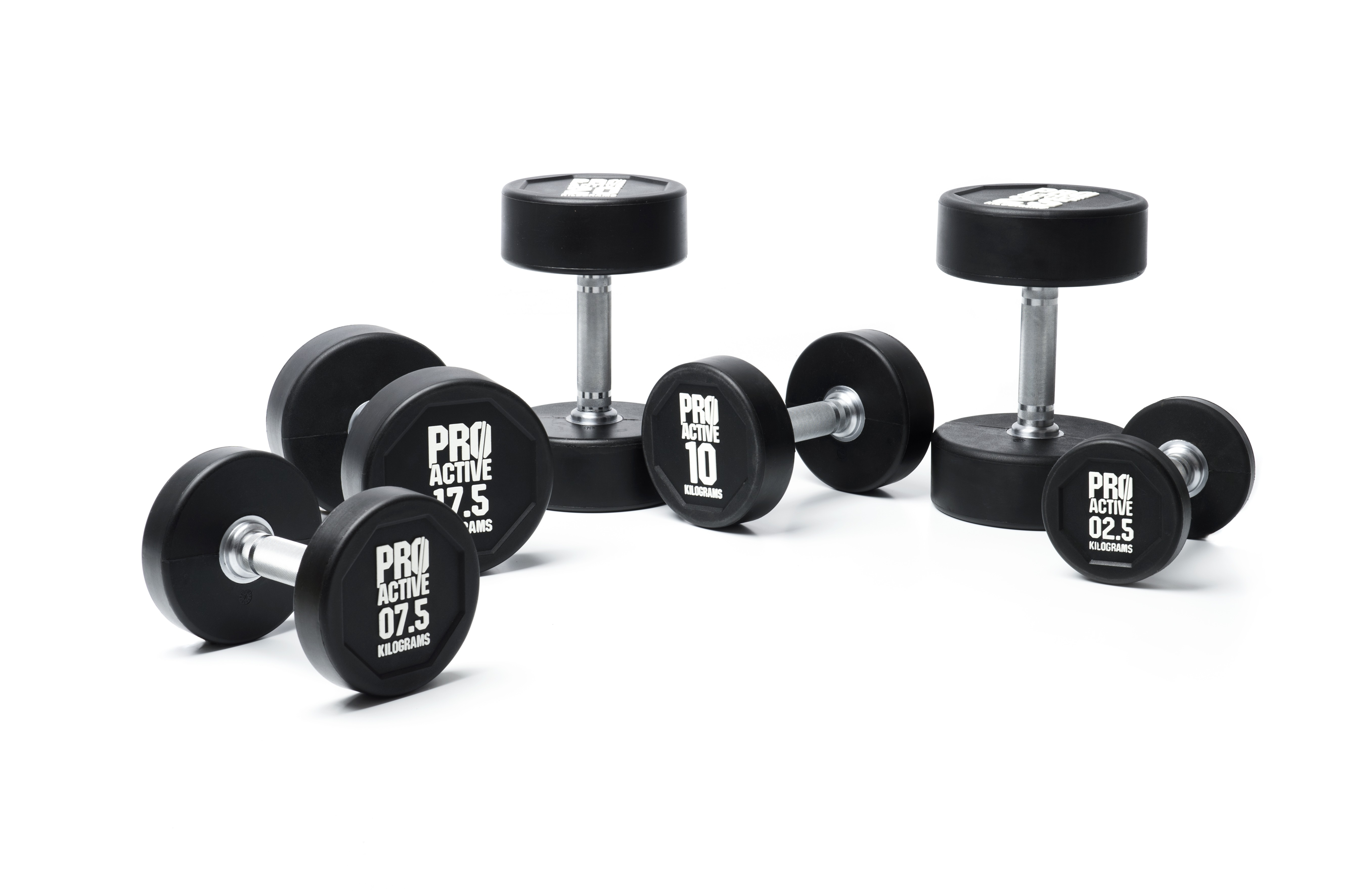 PROACTIVE Urethane Dumbbells (Available in 2.5kg - 50kg weights)