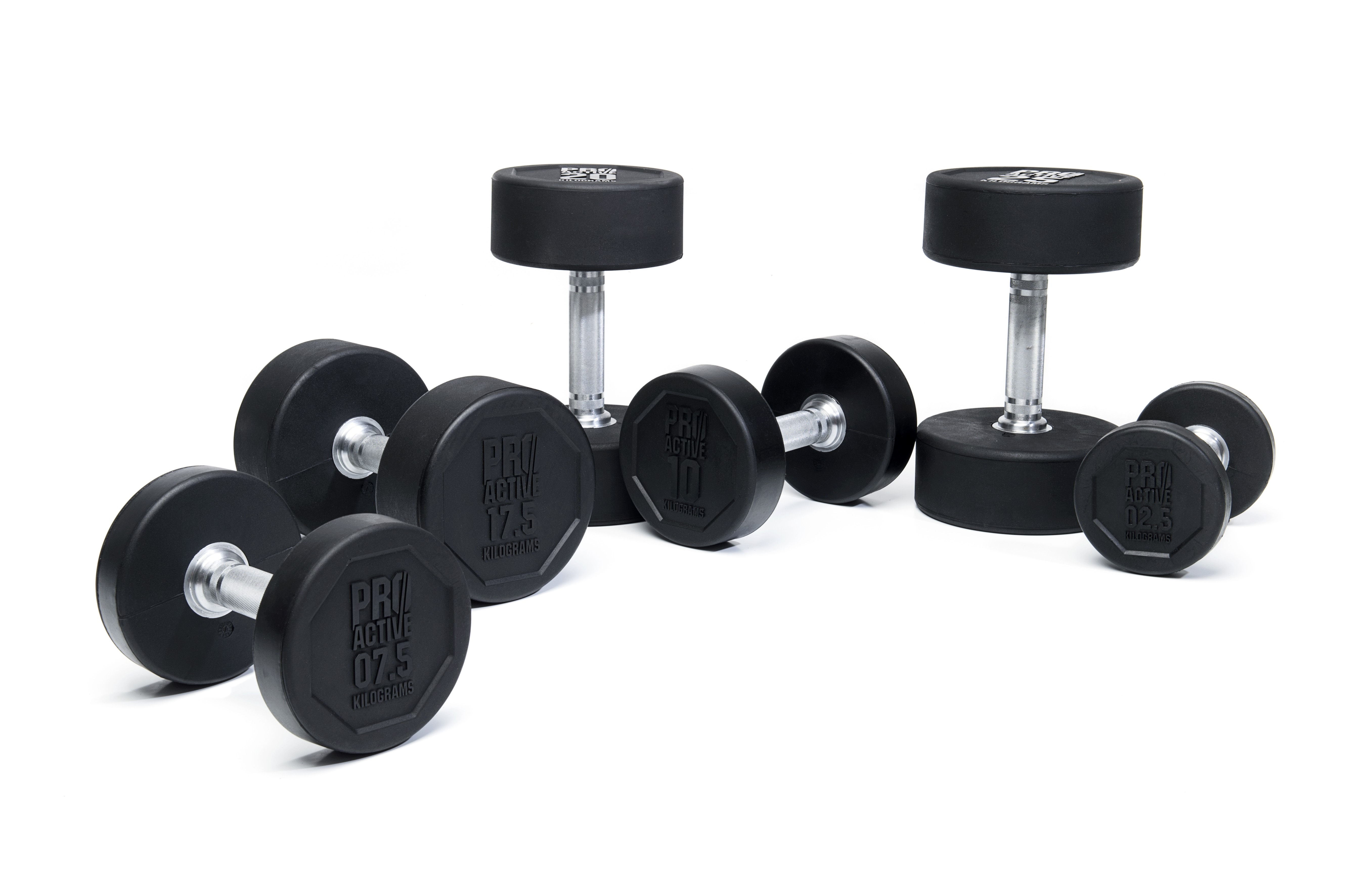PROACTIVE Rubber Dumbbells (Available in 2.5kg - 50kg weights)