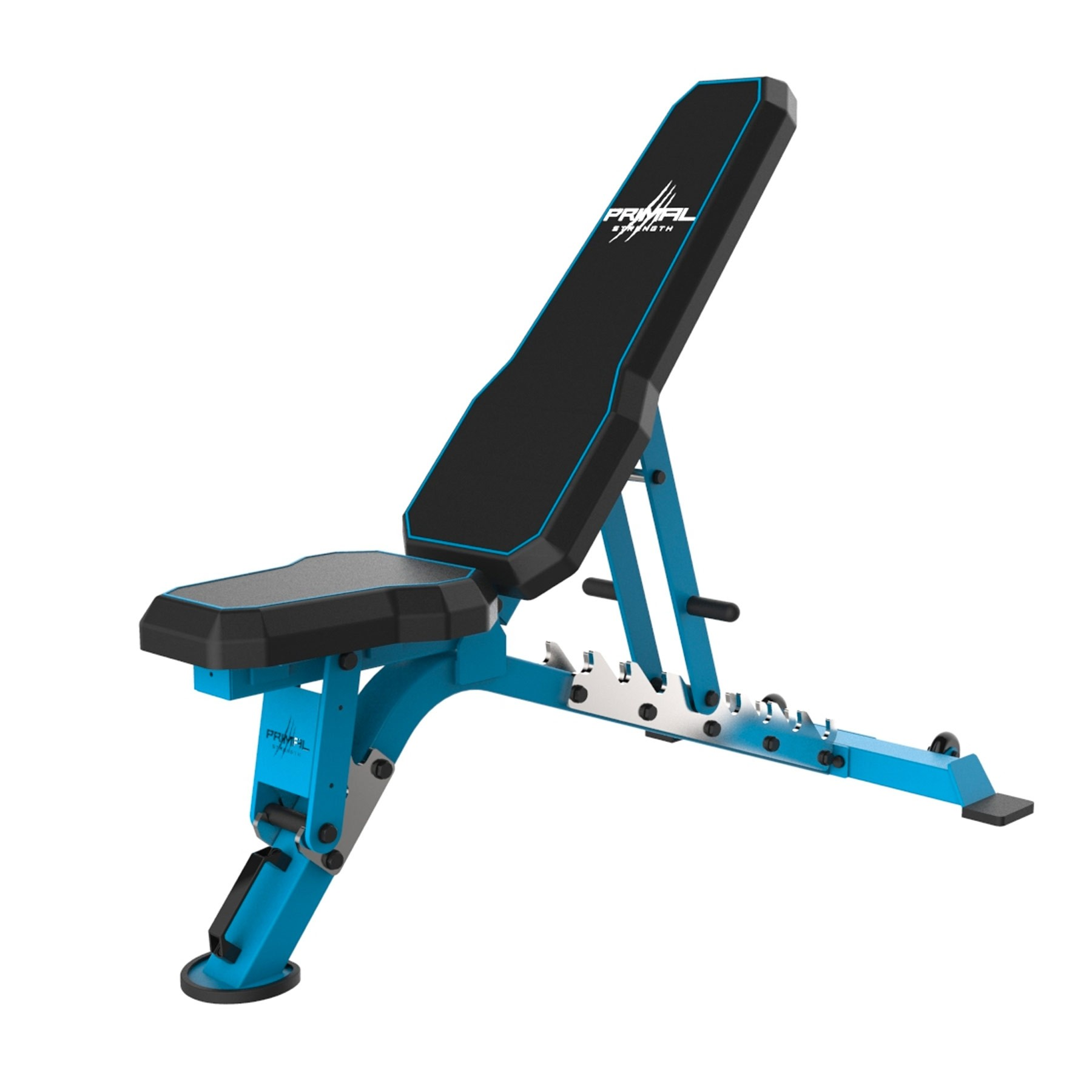 Primal Strength Commercial V2 FID Bench with Chrome Supports (Blue)