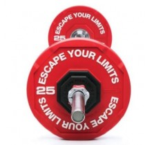 ESCAPE FITNESS ELITE URETHANE BUMPER PLATES.