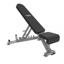 PRIMAL STRENGTH COMMERCIAL ADJUSTABLE BENCH SILVER - AWAITING STOCK