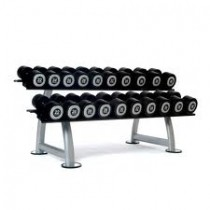 Escape 42 - 50kg Polyurethane Dumbells With Rack