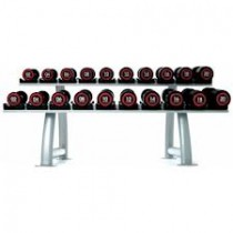 Escape 2 - 20kg Polyurethane Dumbells With Rack