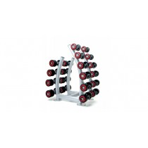 Escape 2 - 20kg Polyurethane Dumbells With Vertical Rack