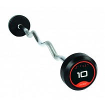 Jordan Classic Rubber Barbells - Curl Bars (Solid Ends) - 10 - 60kg (see options)