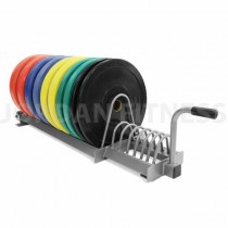 Olympic Training Plate Rack - Silver