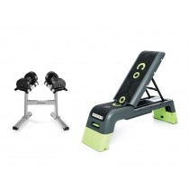 Stairmaster TwistLock Dumbbells, Stand & Escape Deck