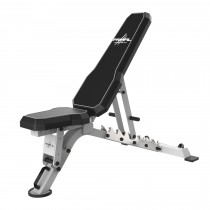 Primal Strength Commercial V2 FID Bench with Chrome Supports (Matte Grey) -MID MAY DELIVERY
