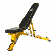 Primal Strength Commercial V2 FID Bench with Chrome Supports (Yellow) - MID MAY DELIVERY
