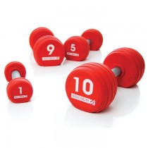 Escape 1Kg - 10kg PU Dumbell (Red) Set