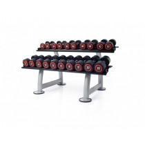 Escape 12kg - 30kg Urethane Dumbbells With Rack