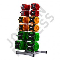 Ignite Urethane Studio Barbell Set (x12) + Rack
