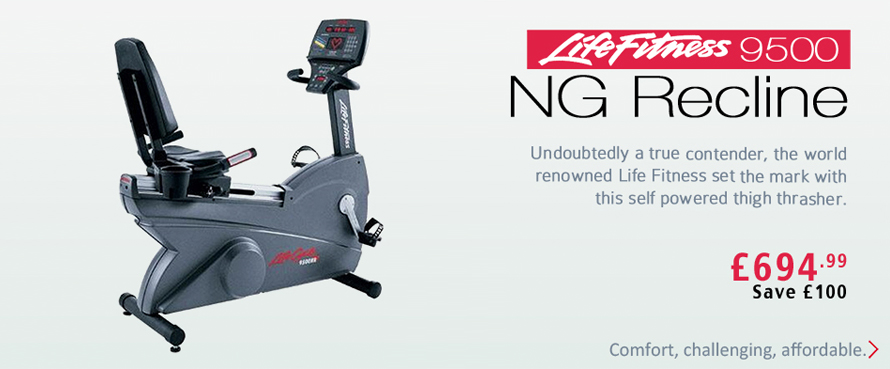 Life Fitness 9500 NG Recline Exercise Bike