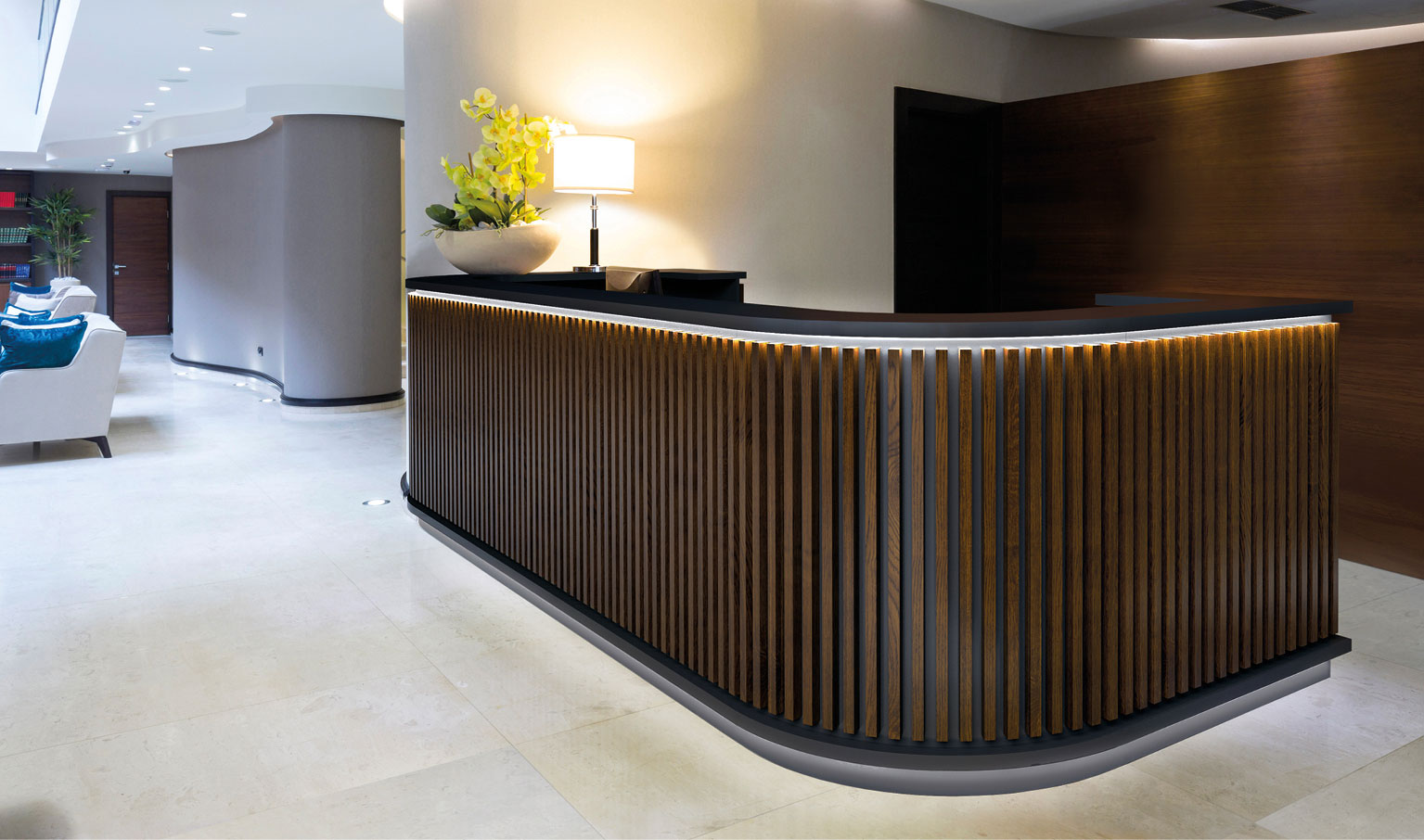 Reception counters gymkit uk solutions for Scrivania reception
